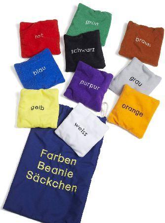 Farbsäckchen, 10 deutsche Farbbezeichnungen