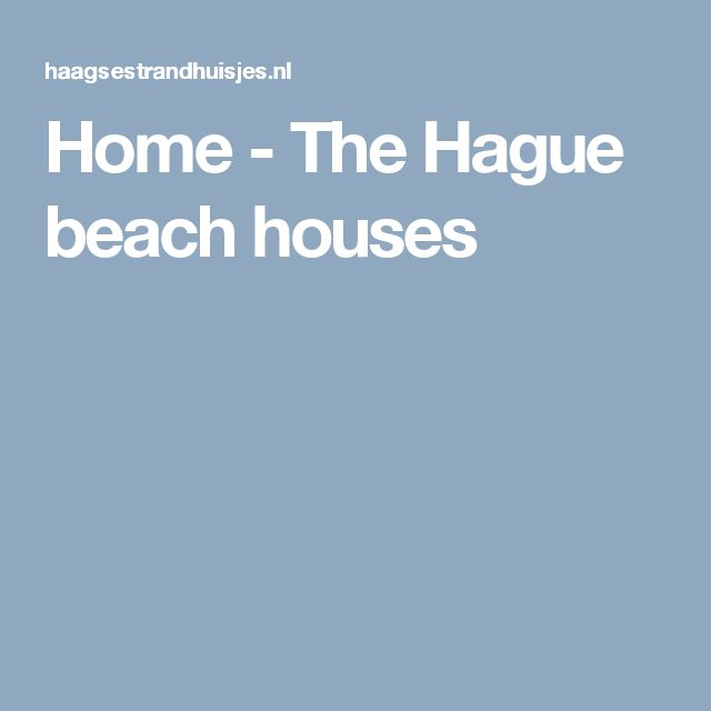 Home - The Hague beach houses