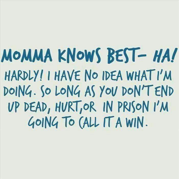 Lol yes! Being a mother I didn't know what to expect or what the hell I'm doing at times but my babies are still healthy, happy and alive I'm doing well. : )