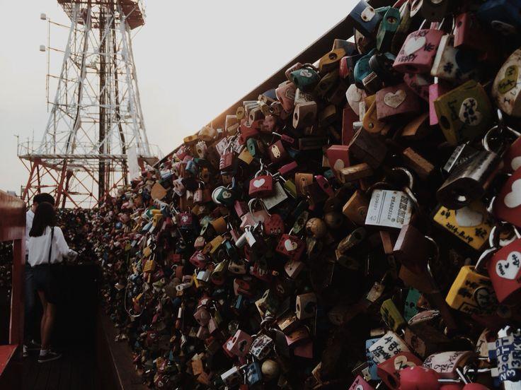 Love padlock at Seoul N Tower