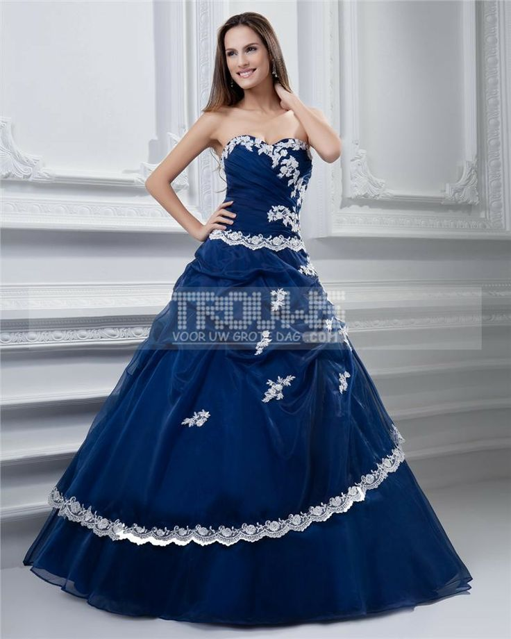http://no.trouws.com/ballkjoler-c55 ball kjole kjaereste ermelos gulv lengde broderi tyll taffeta prom quinceanera kjole - 1,263.19NOK : TROUWS