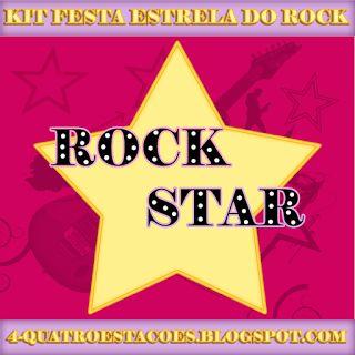 Kit festa para imprimir gratuito, Estrela do Rock (Rock Star)
