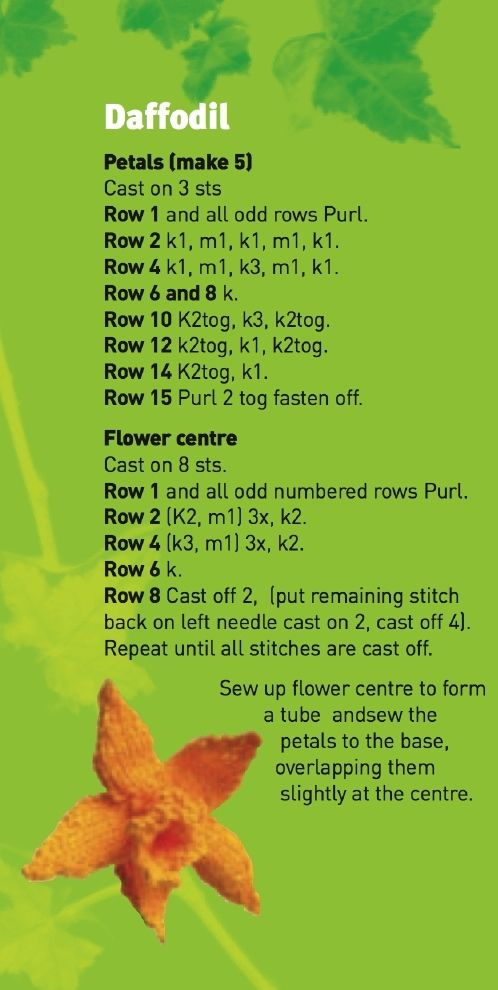 bunch of free knit pattern flowers here http://www.ukhandknitting.com/free_flower_patterns.php