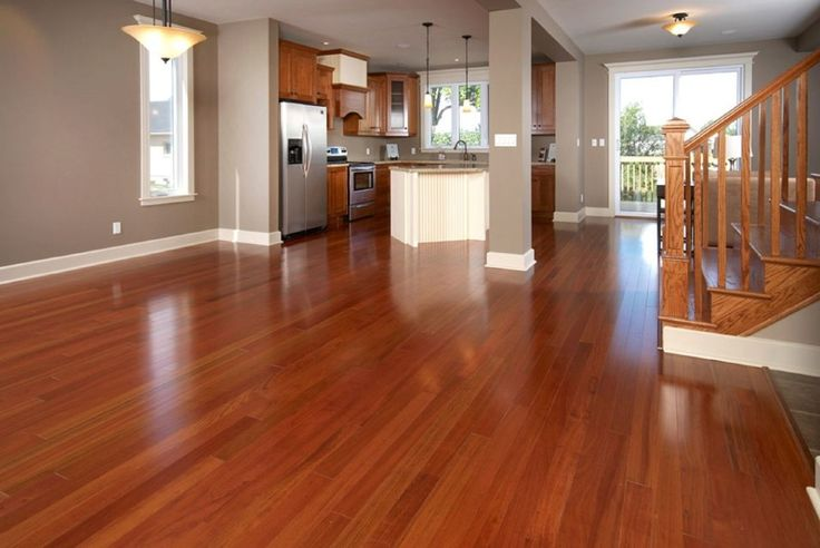 Alluring brown brazilian teak wood laminated floor and Living room colors with wood floors