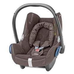 Our Carseat.   Maxi-Cosi Cabriofix in Roasted Brown.