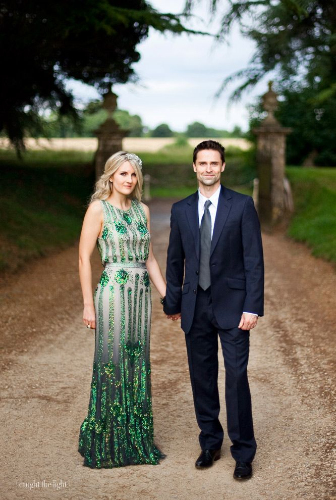 Emerald Green Jenny Packham Dress #coloroftheyear Maybe an engagement dress but I think it would make a great wedding dress