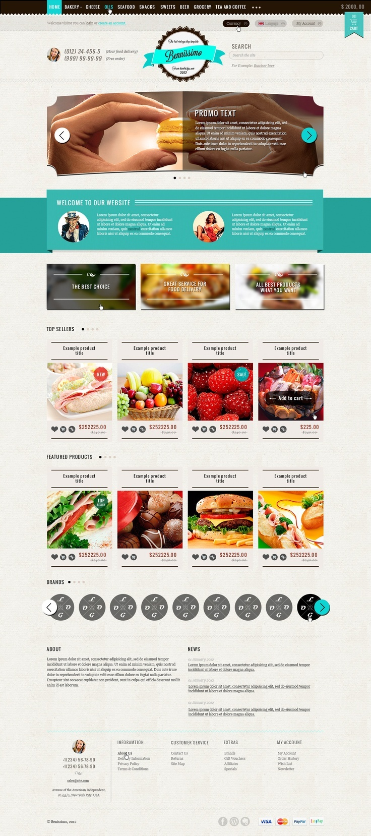 #Food #Store #Template