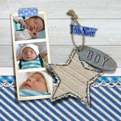 YVON geboorte hout foto - Geboortekaartjes - Kaartje2go