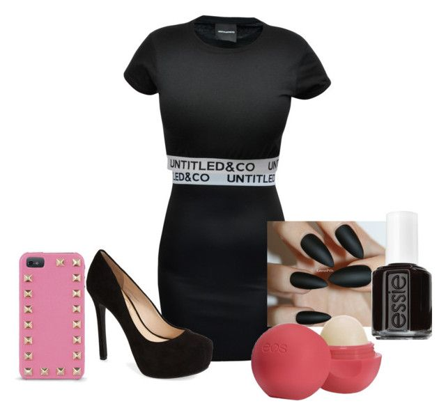 """Black with hints of pink "" by miapops on Polyvore"