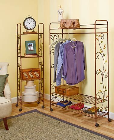 Add a decorative touch to your home while providing extra for Extra closet storage