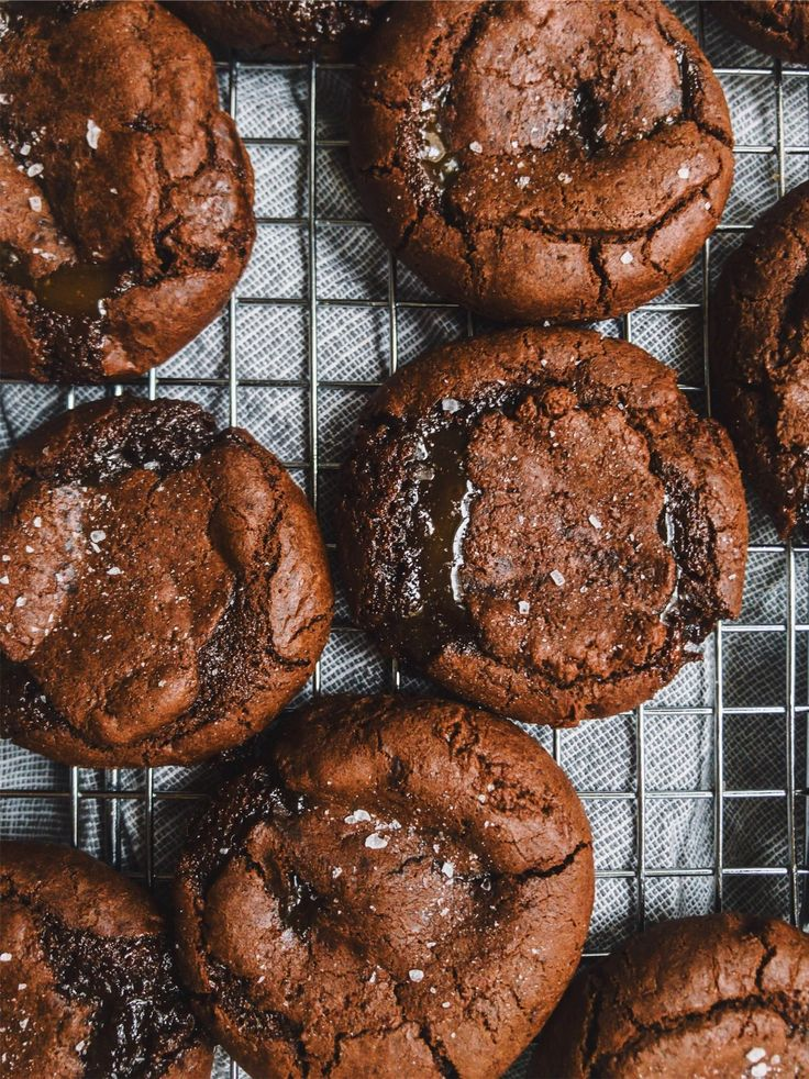 salted caramel filled chocolate cookies   petit bakes