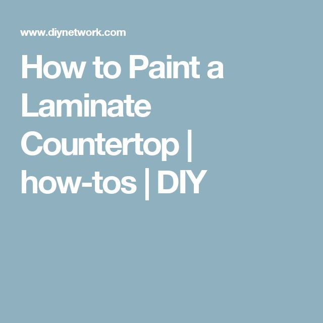 How to Paint a Laminate Countertop | how-tos | DIY