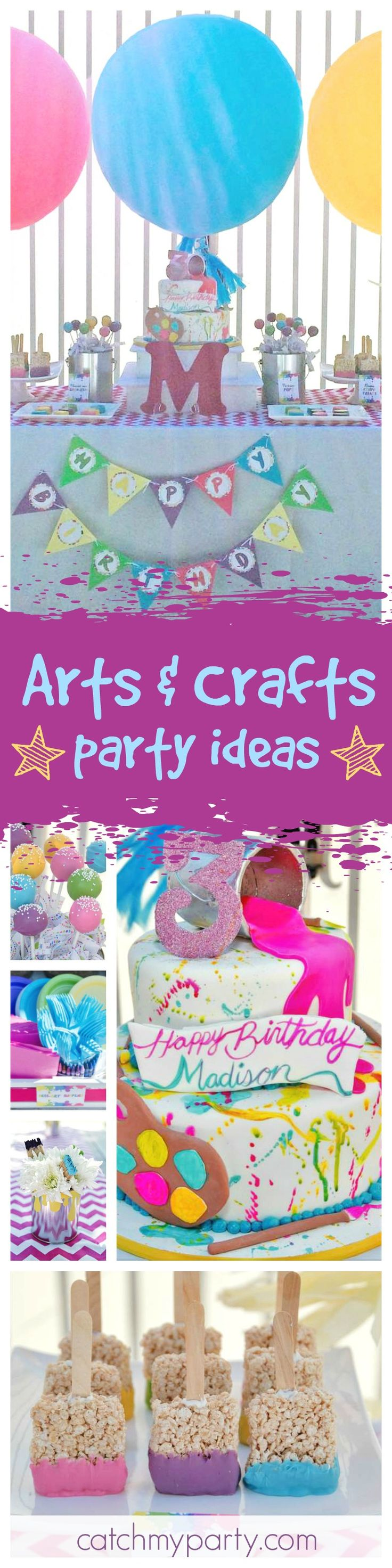 Arts and crafts party ideas - Arts Crafts Birthday Madison S 3rd Birthday Arty Party