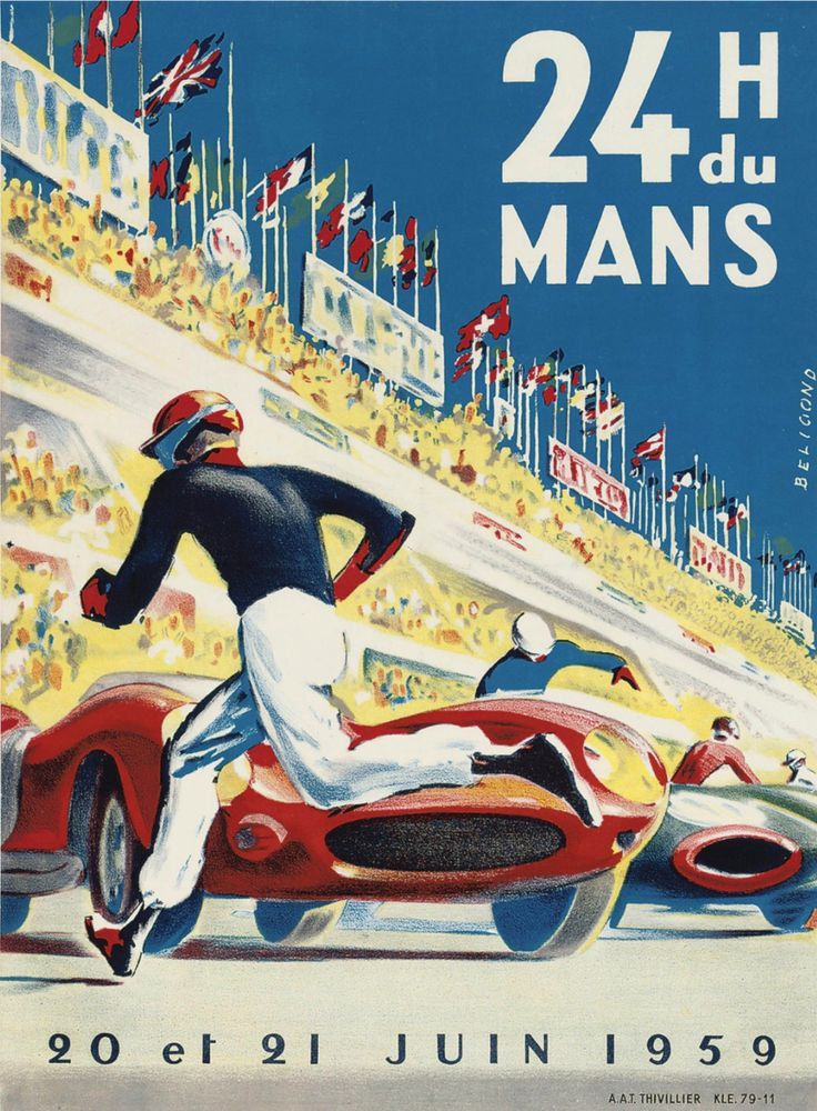 France. Le Mans, 20 and 21 June 1959