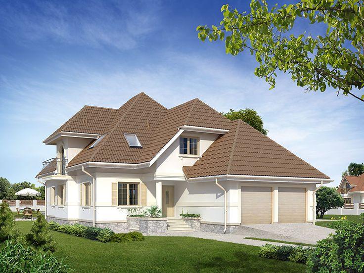 Nowoczesny dom o rozbudowanej bryle.