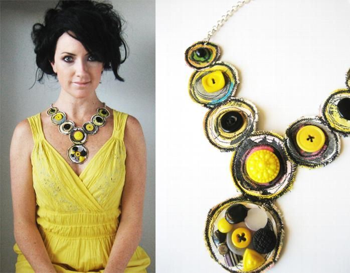 Amazing upcycled necklace by Alisa Burke