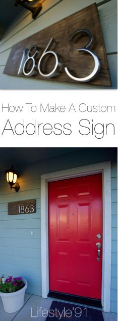 How To Make a Custom Address Sign. This project is super easy, inexpensive and looks like a million bucks!