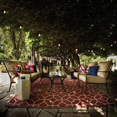Garden Treasures Outdoor Conversation Set Fzs80334st Vinehaven 4 Piece Patio Co Conversation Set Patio Classic Patio Furniture Garden Treasures Patio Furniture