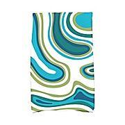 Latitude Run Buenrostro Agate Novelty Print Hand Towel; Teal