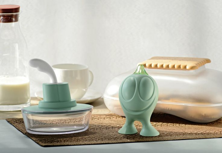 Gino Zucchino sugar bowl, Ship Shape and merry Biscuit box from Sweet Breakfast collection from Alessi on FormAdore.com