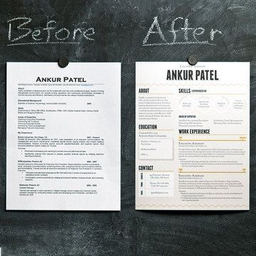 #Resume Before And After  Resume Design Inspiration