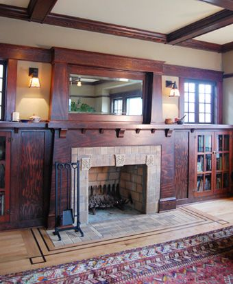 Fantastic remodel by Craftsman design and renovation. craftsman bungalow fireplace