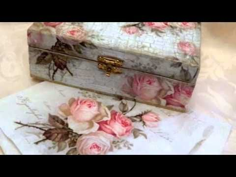 Decoupage tutorial for beginners - DIY. How to decoupage a box. Napkin technique. - YouTube