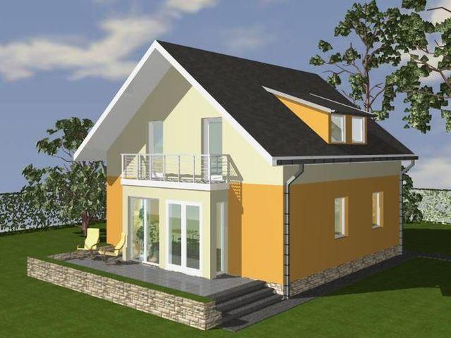Casa cu mansarda 1005