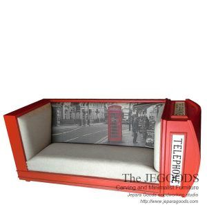 Jegoods Woodworking produce sofa seat union jack creative painted furniture style. Produsen mebel bangku sofa model bendera inggris kualitas ekspor grade A.