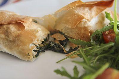 Lume Brando: Folhado de espinafre e queijo para dois.