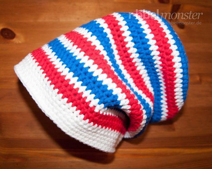 Mütze häkeln - Long Beanie mit halben Stäbchen - Babymütze häkeln, Mütze häkeln