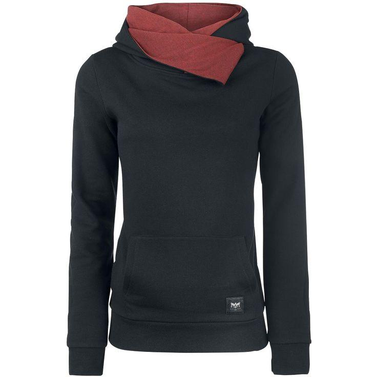 Hettegenser fra Black Premium by EMP:  - skjerfkrage - hette med kontrastfarger - kengurulomme - ribbestrikket linning