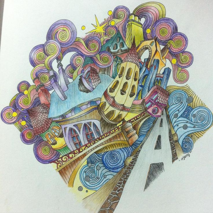 92 Best Magical City Coloring Book Images On Pinterest