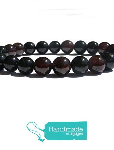 "ZENstore Black Tourmaline Certified and Garnet Healing Bracelet Certified Natural Gemstones size 0.3"" 8mm Root Chakra Protection Courage Passion from ZENstore https://www.amazon.com/dp/B072QCQ4V5/ref=hnd_sw_r_pi_dp_XjrozbQY4J1N9 #handmadeatamazon  #Zenstore #chakra #gemstone #jewellery #fashion"