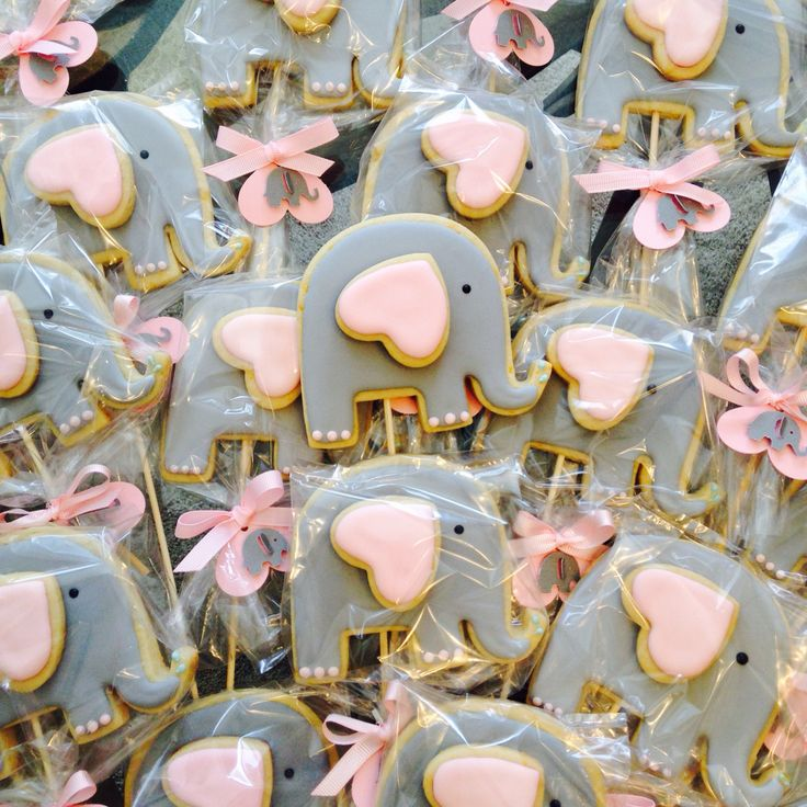 Elephant sugar cookies, elephant party favors, baby shower sugar cookies, elephant birthday party.