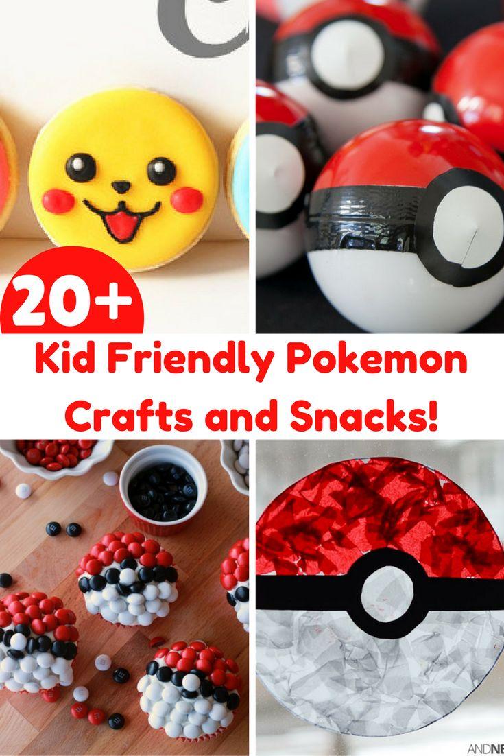 20+ Kid Friendly Pokemon Crafts and Snacks