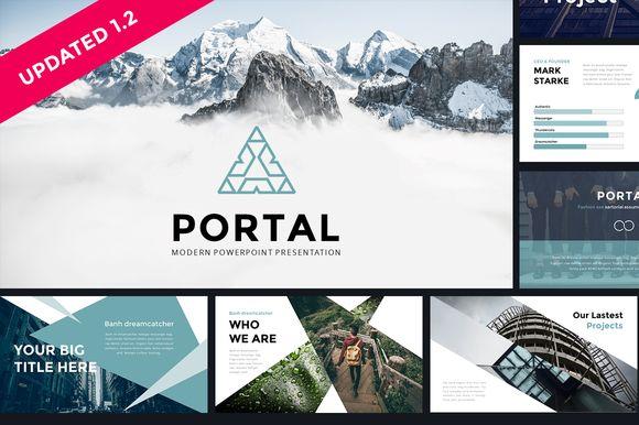 Portal Modern Powerpoint Template - Presentations