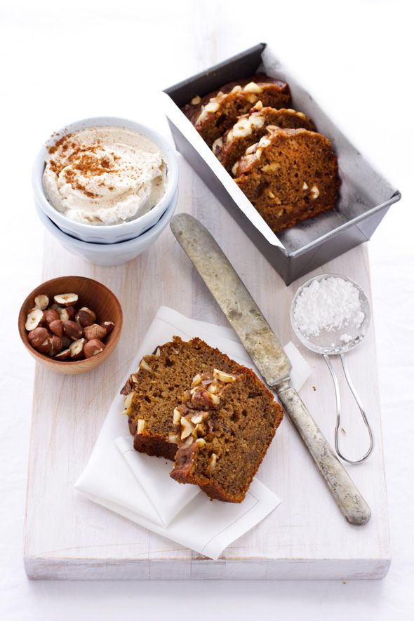 Sweet potato, yogurt, and hazelnut cakes.