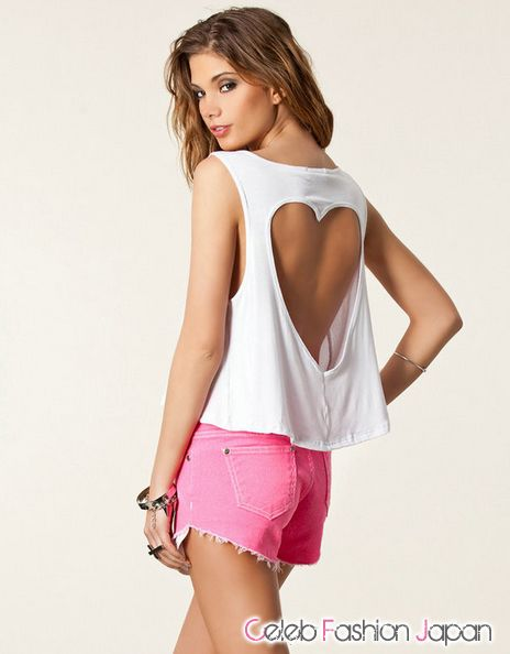Backless Heart Tee