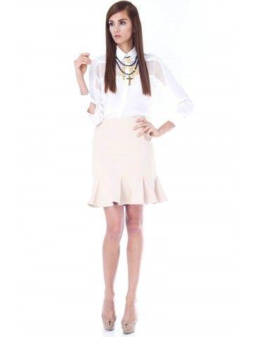Agathe Ruffle Skirt de #tibi en Styleto.co
