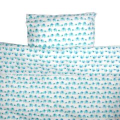 Turquoise elephant toddler cot bed duvet set