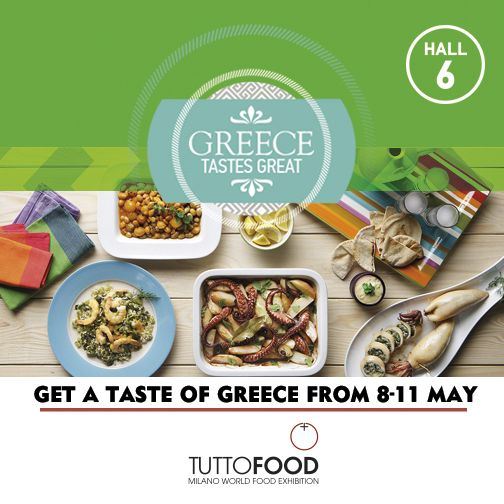 Taste the authentic flavours of Greek cuisine at #TUTTOFOOD2017. Don't miss it!