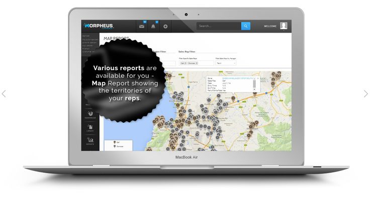 Monitor your sales reps' store visits and the territories they cover using our map report feature.  http://www.morpheuscommerce.com/