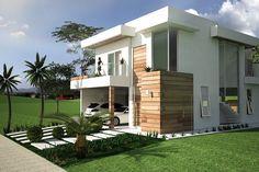 Planta de sobrado com escritório - Projetos de Casas, Modelos de Casas e Fachadas de Casas