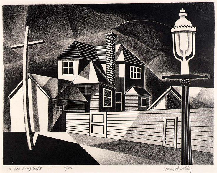 Harry Brodsky - In the lamplight, 1947