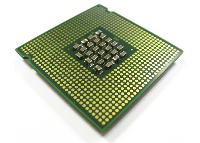The processor - this is the control unit and arithmetic/logic unit.