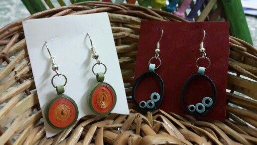 Handmade quilled earrings
