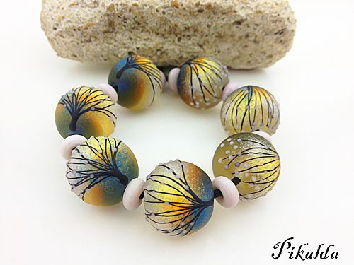 clay beads lampwork beads lampworking twilight polymer clay polymers fimo