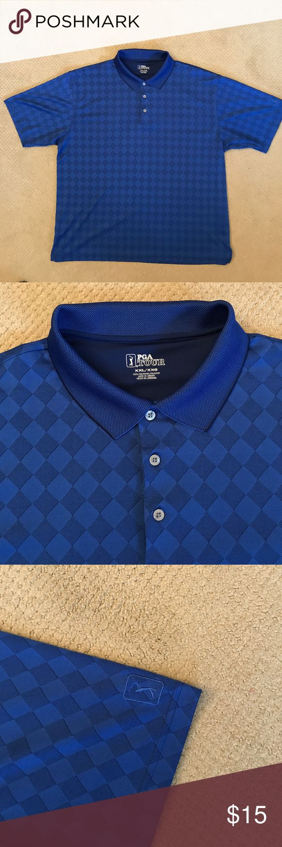 PGA TOUR Pro Series Men's Golf Polo Shirt Size XXL PGA TOUR Pro Series Men's Golf Polo Shirt Size XXL MSRP $60.  Blue diamond pattern on front and back. No blemishes. Looks like it is brand new. PGA Tour Shirts Polos