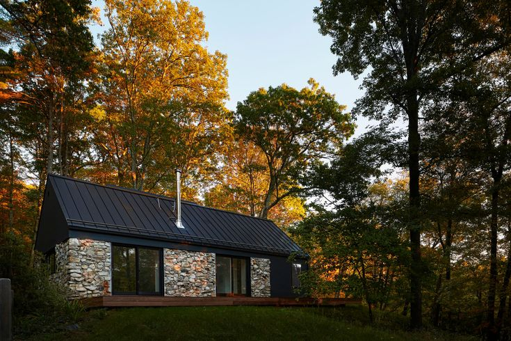Dubbed Old Stone House, this project was created on the behalf of a couple seeking a weekend retreat. The house is set in the idyllic Hudson Valley in the